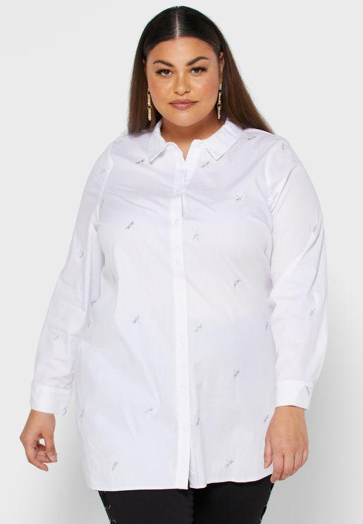 قميص مزين بتطريزات