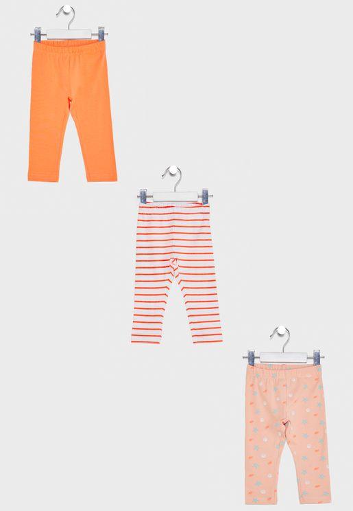 Infant 3 Pack Assorted Leggings