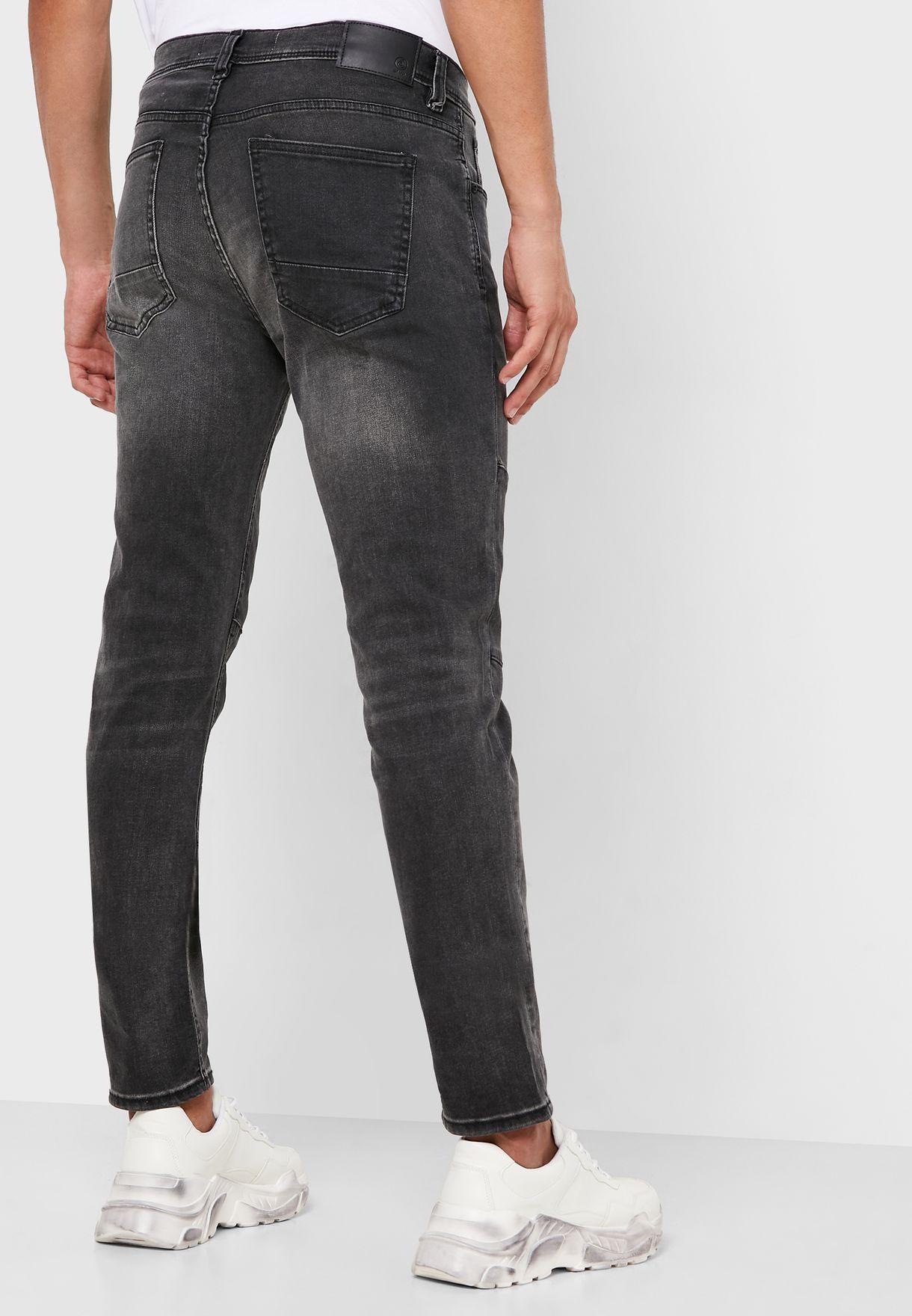 Burton Carter Patched Slim Fit Jeans
