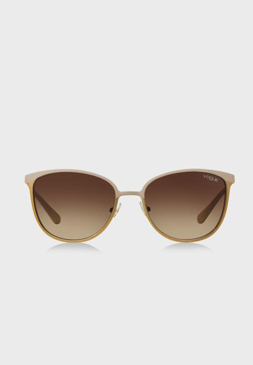 0Vo4002S Oversized Sunglasses