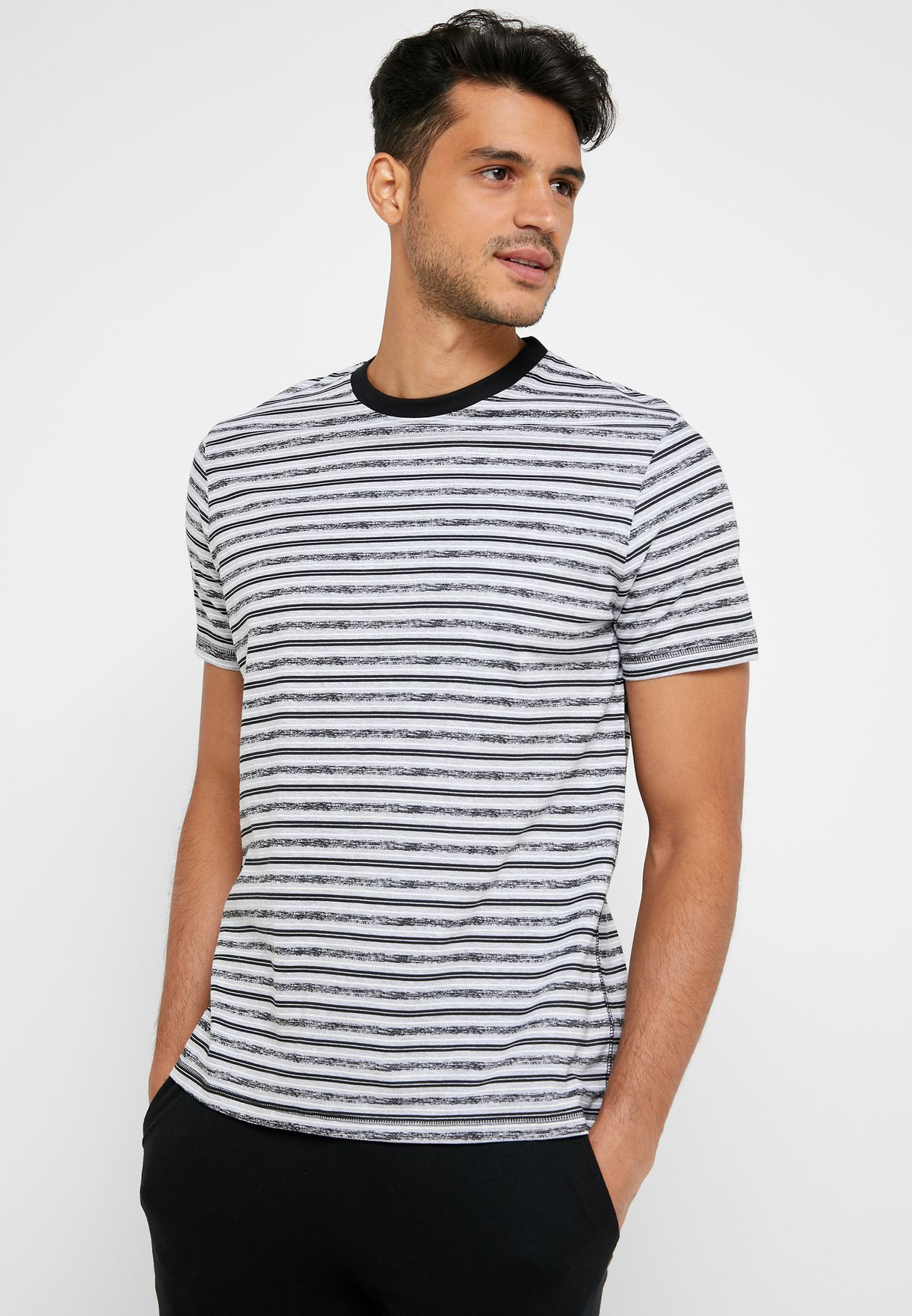 Striped T-Shirt Pyjama Set