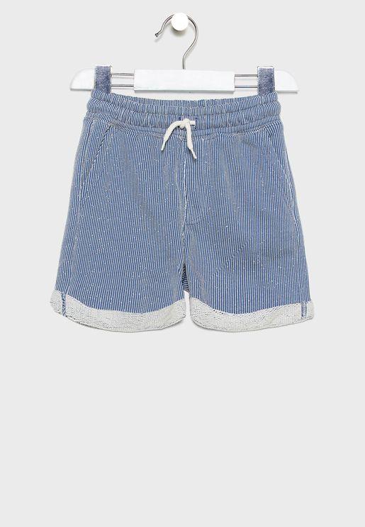 Kids Tie Waist Detail Shorts