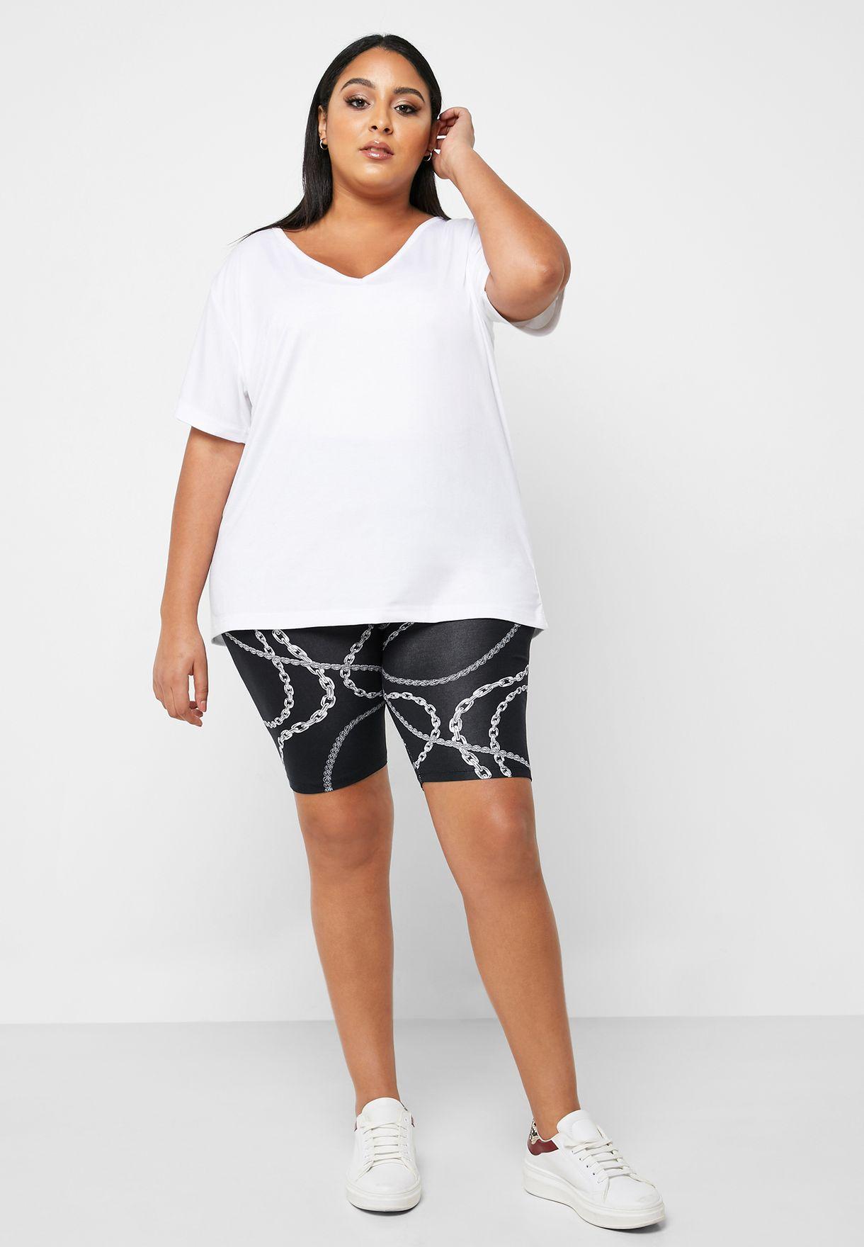 Printed Cycling Shorts