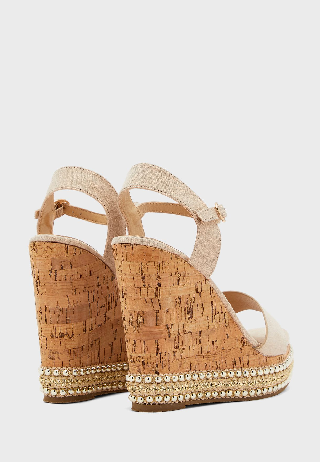 Rope Detail Wedge Sandals
