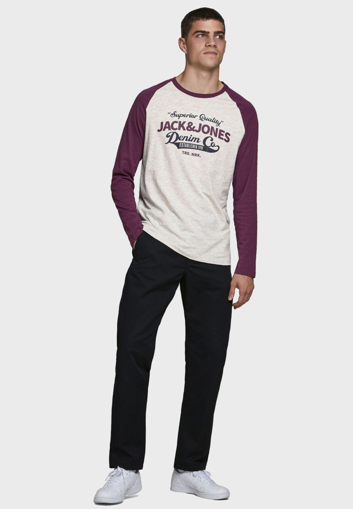 Raglan Regular Fit Crew Neck T-Shirt