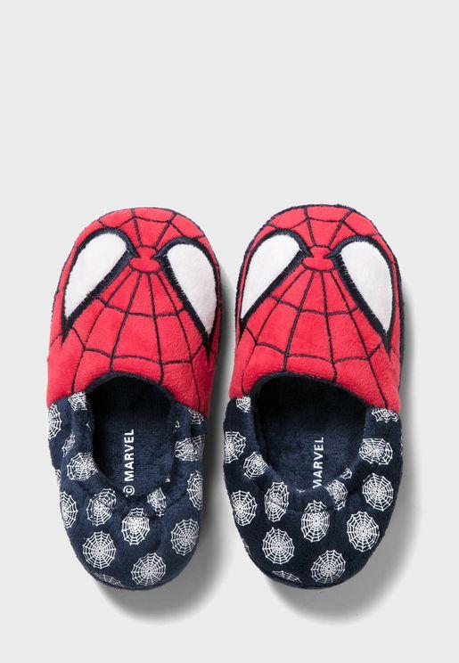 Kids Spiderman Slip Ons