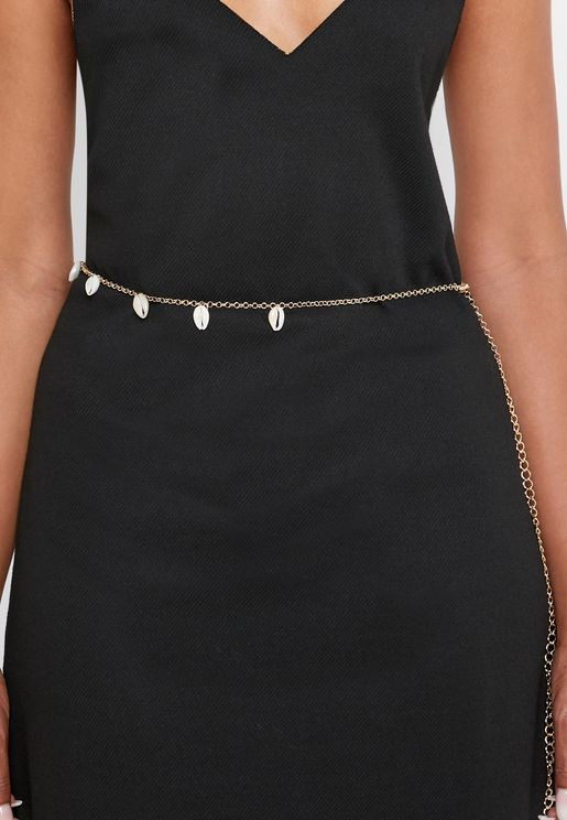 Shell Detail Chain Belt