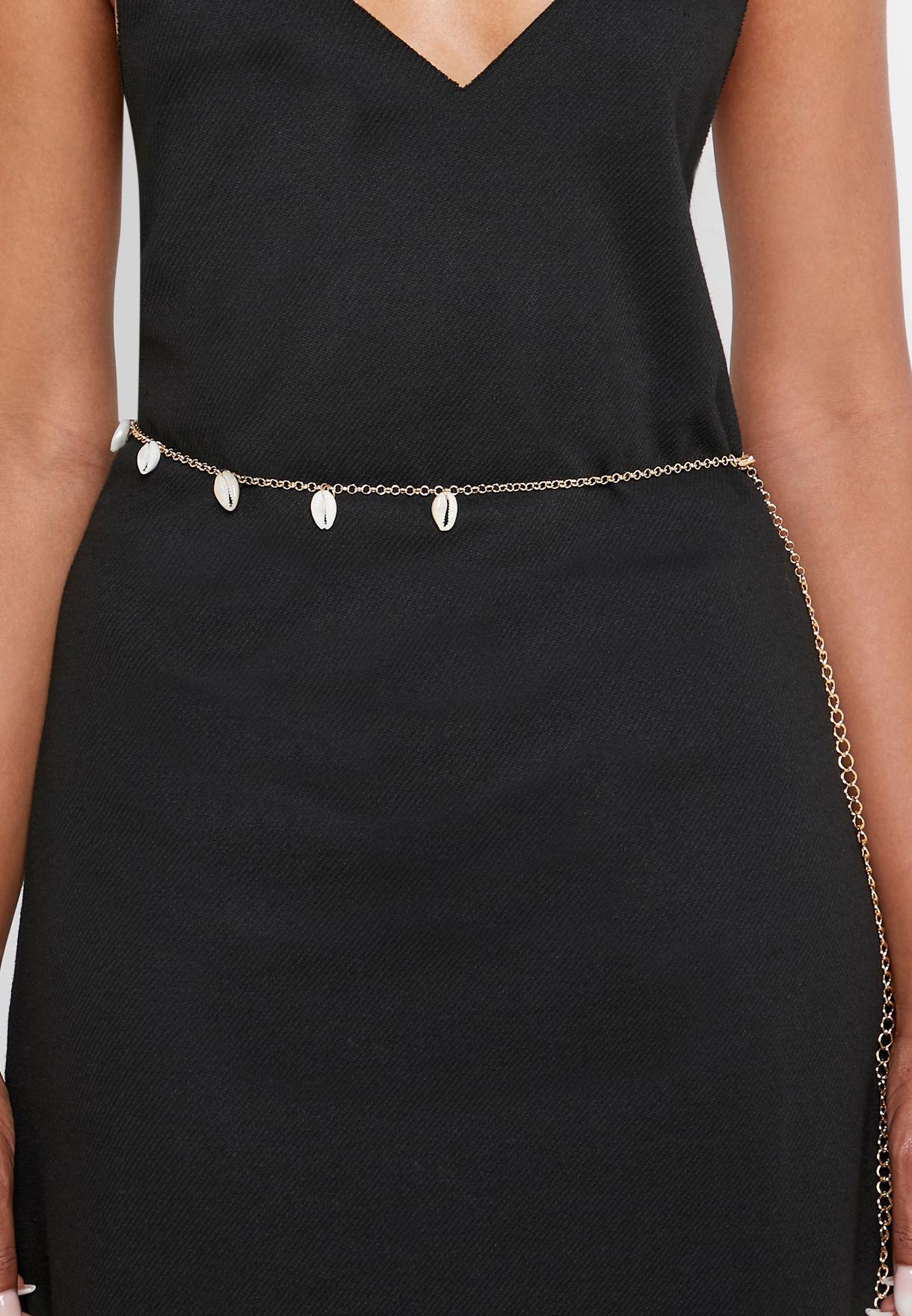 Shell Detail Chain Belt