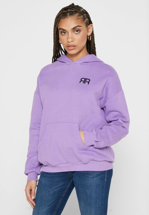 Pocket Front Oversized Hoodie