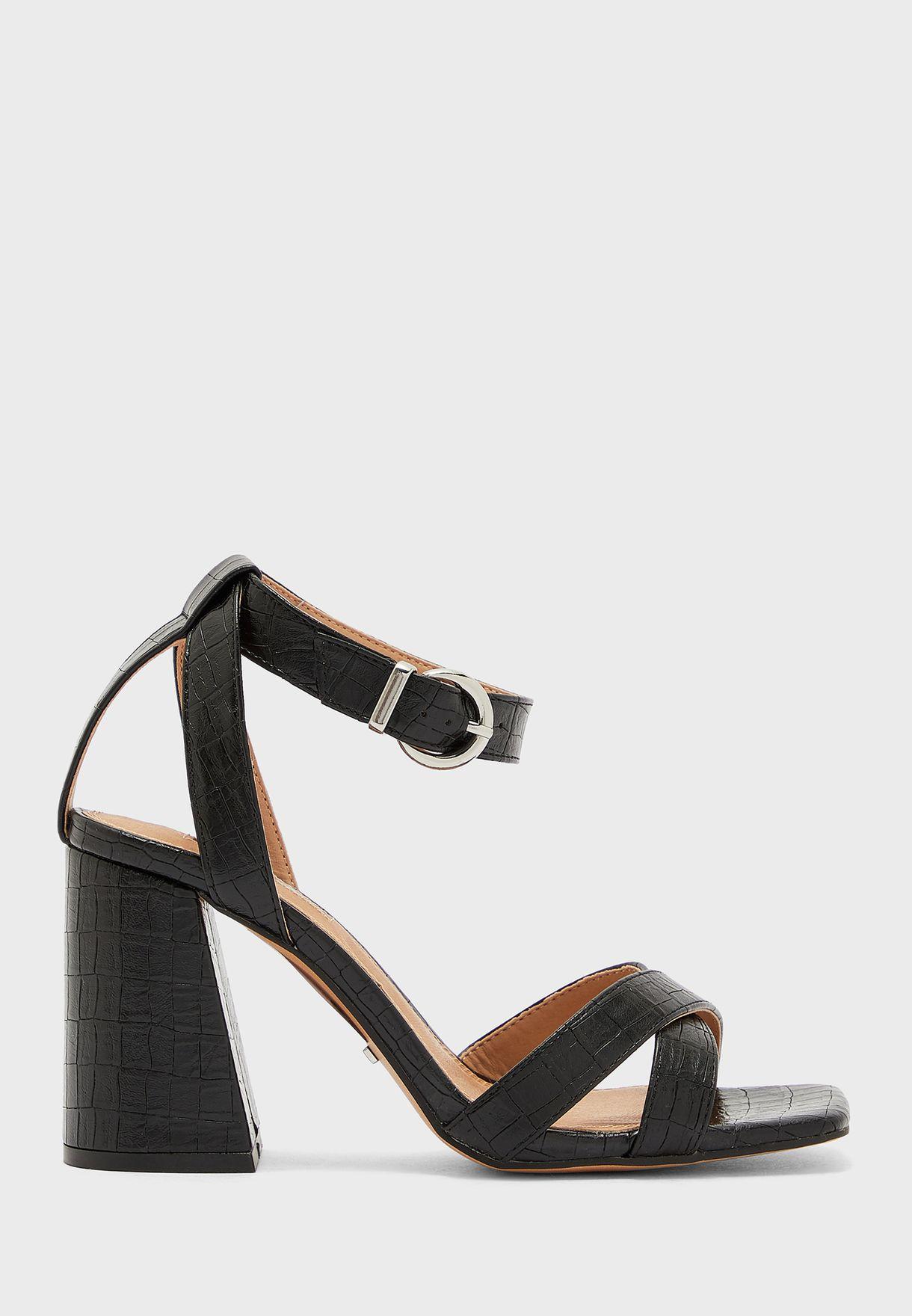 Wide Fit Sacha Block Heel Sandal