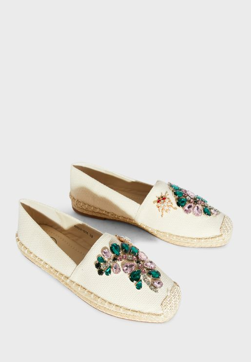 Embellished Espadrilles