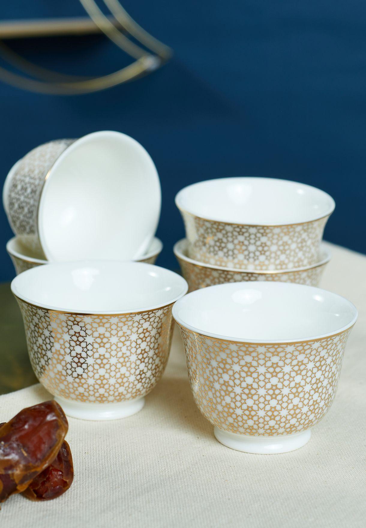 Set of 6 Chaffe Arcade Cup