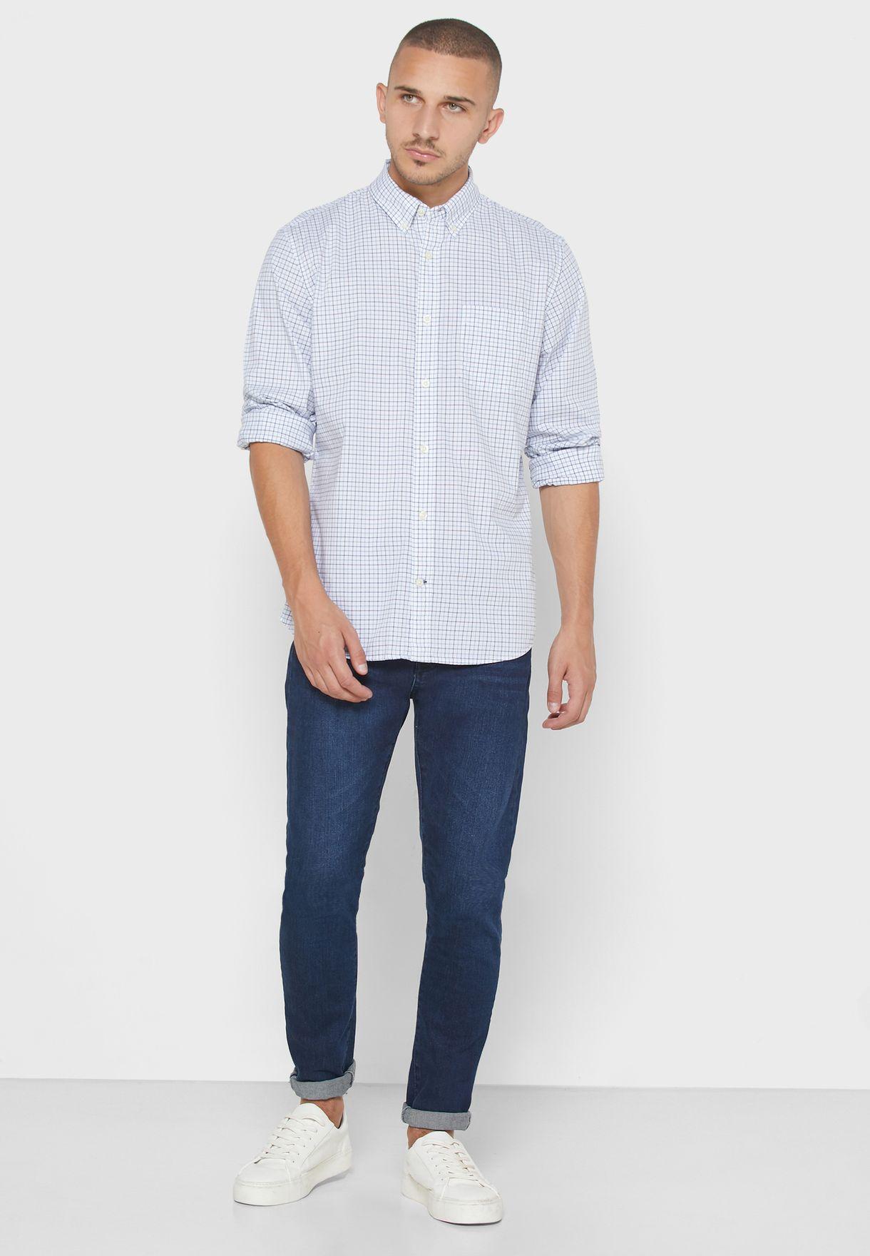 Checked Slim Fit Shirt