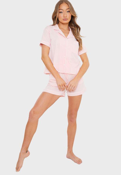 Soft Touch Top & Shorts Pyjama Set