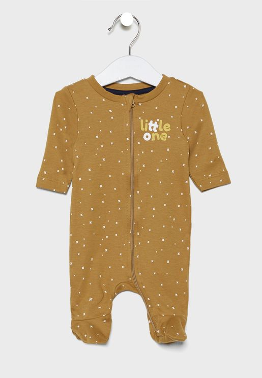 Infant Printed Zip Through Nightsuit