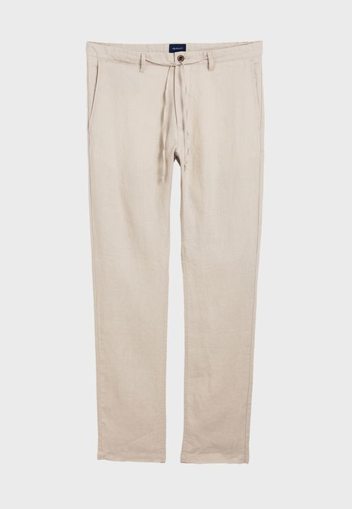 Drawstring Relaxed Fit Chinos
