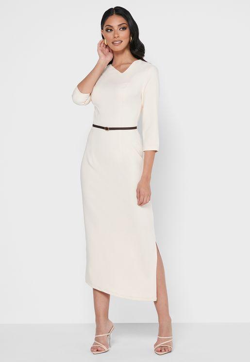 فستان بحواف غير متماثلة
