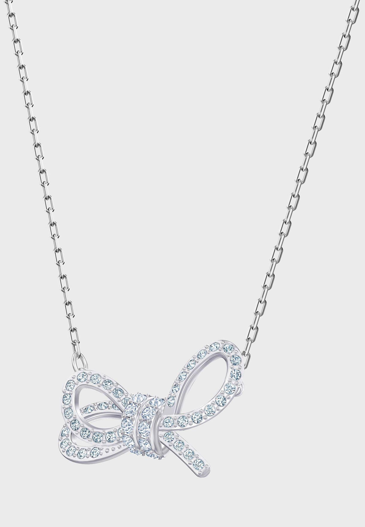 Lifelong Bow Necklace+Earrings Set