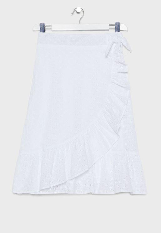 Kids Frill Wrap Skirt
