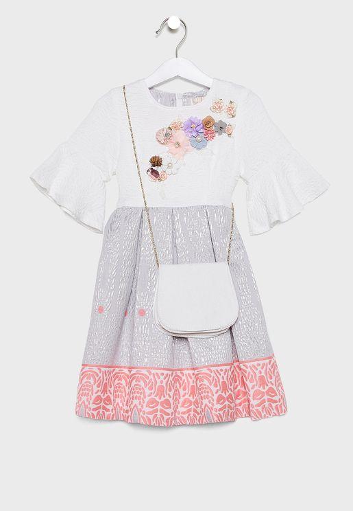 Kids Embellished Dress