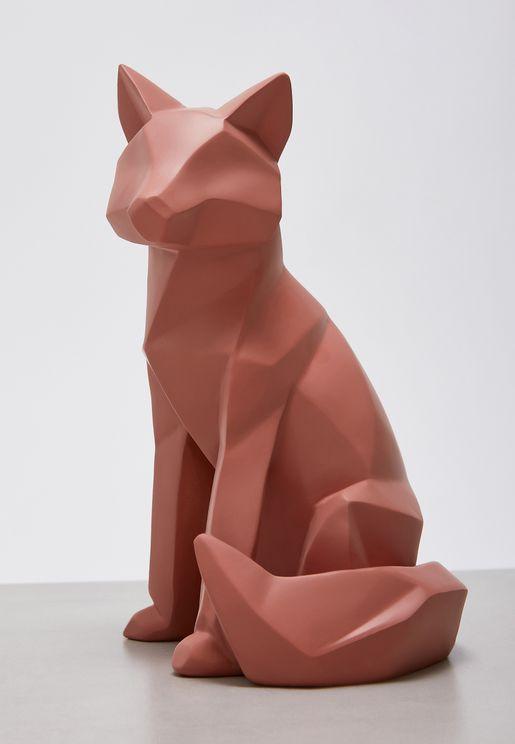 Large Fox Origami Statue