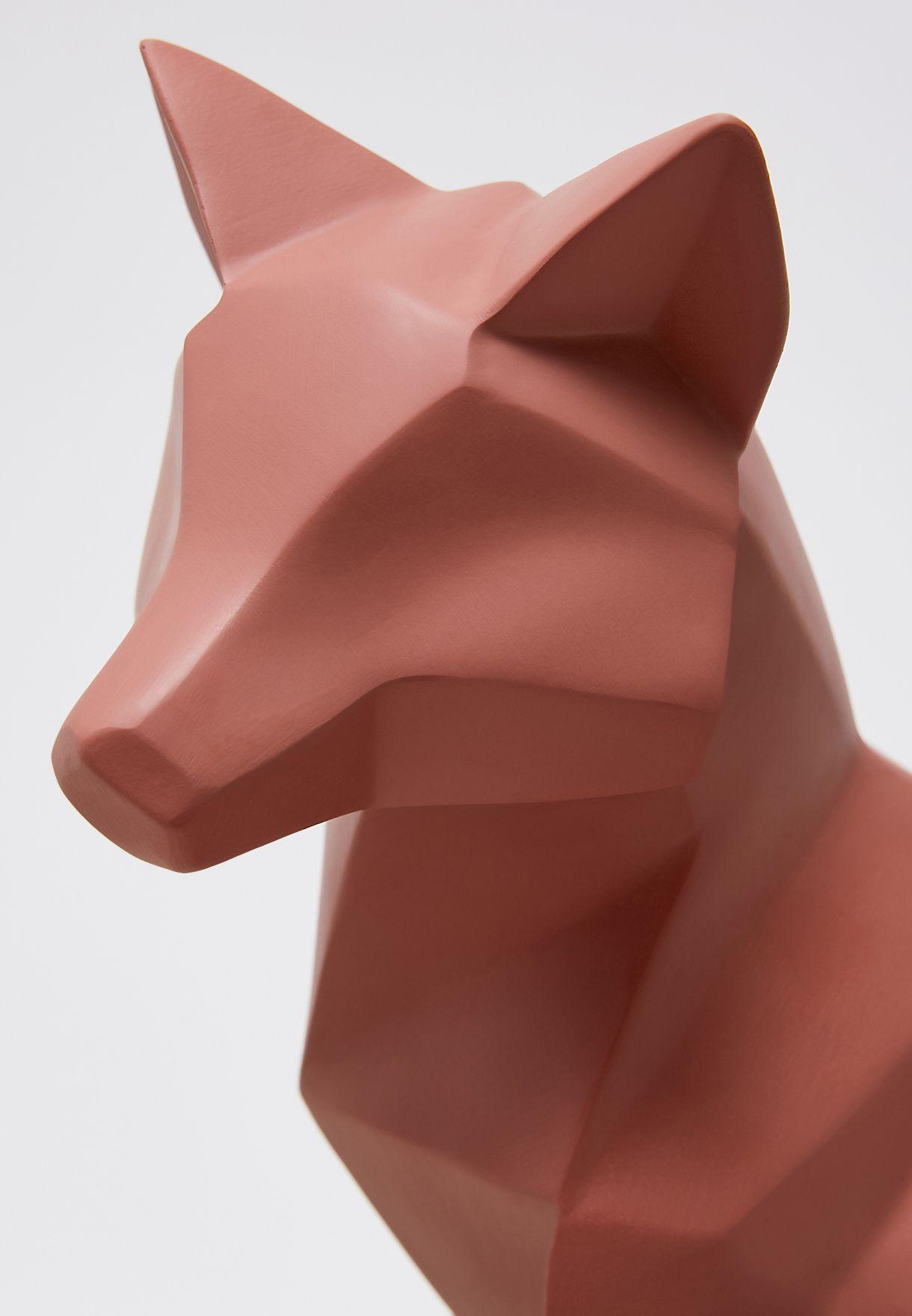 تمثال اوريغامي علي شكل ثعلب