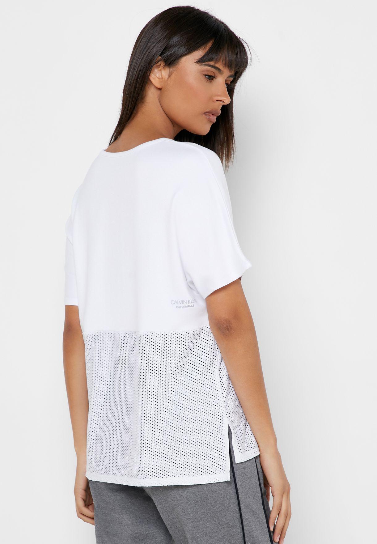 Mesh Block T-Shirt