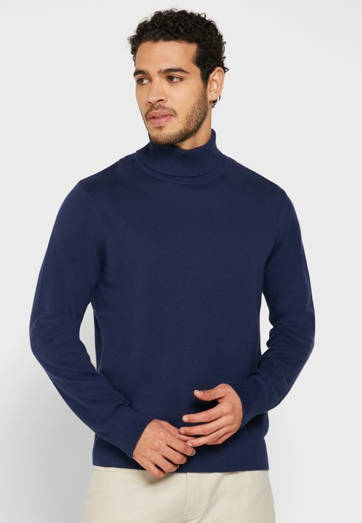 High Roll Neck Knit