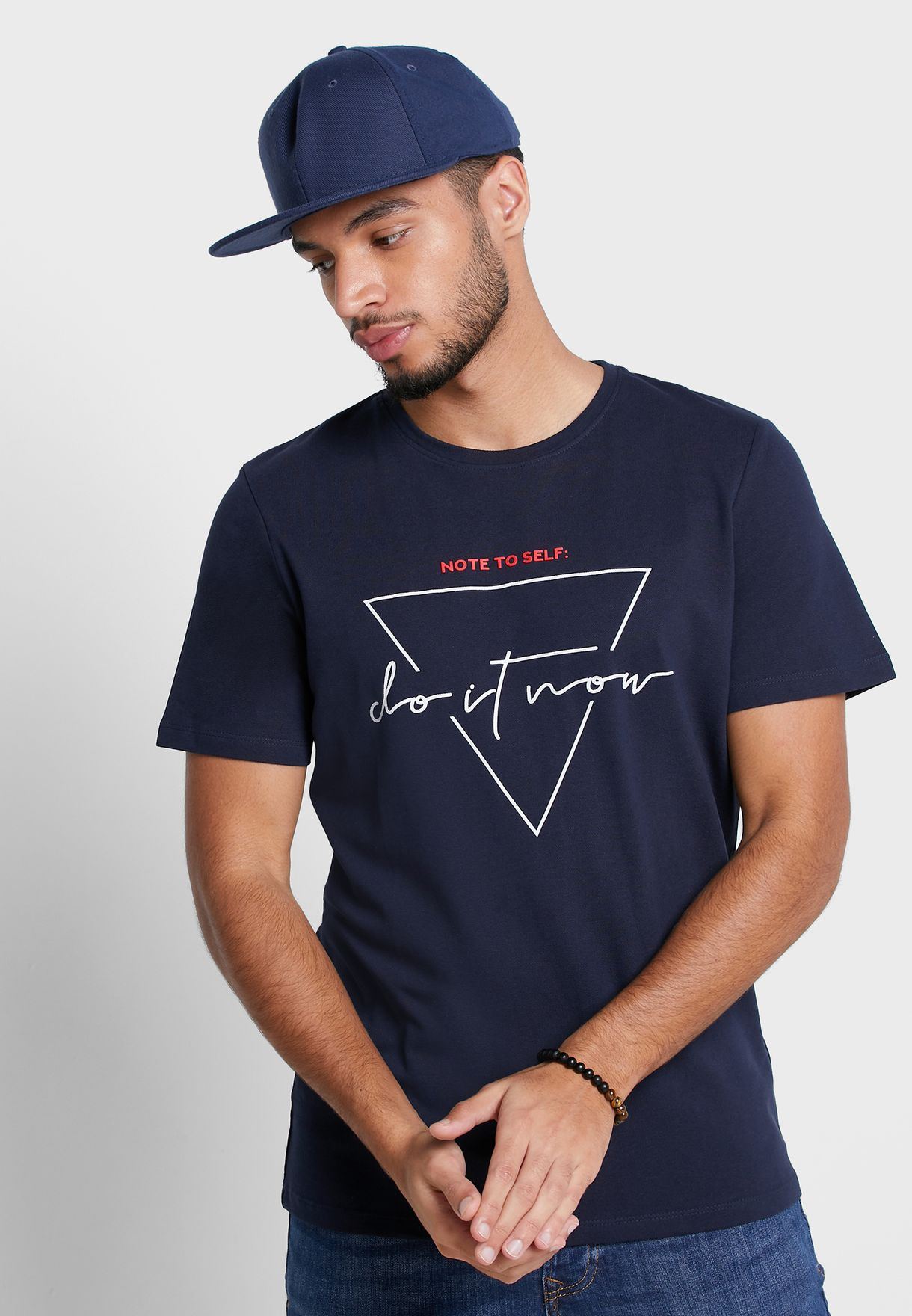Triangle Crew Neck T-Shirt