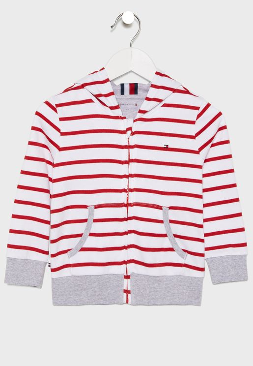 Infant Striped Hoodie
