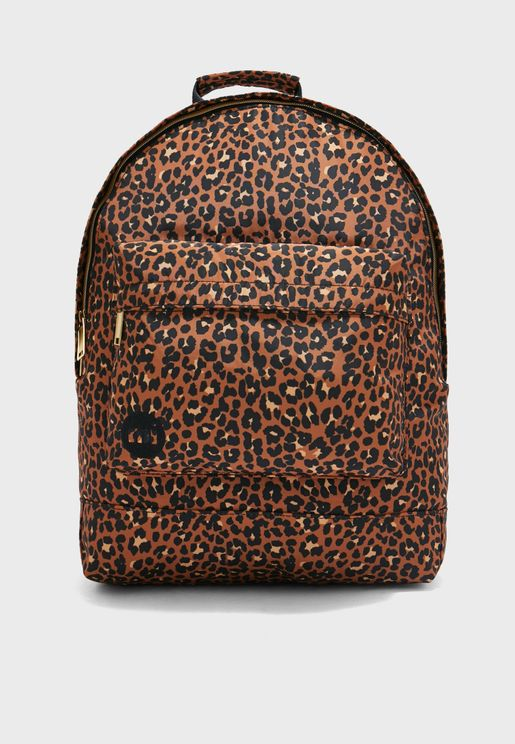 Nylon Leopard Backpack