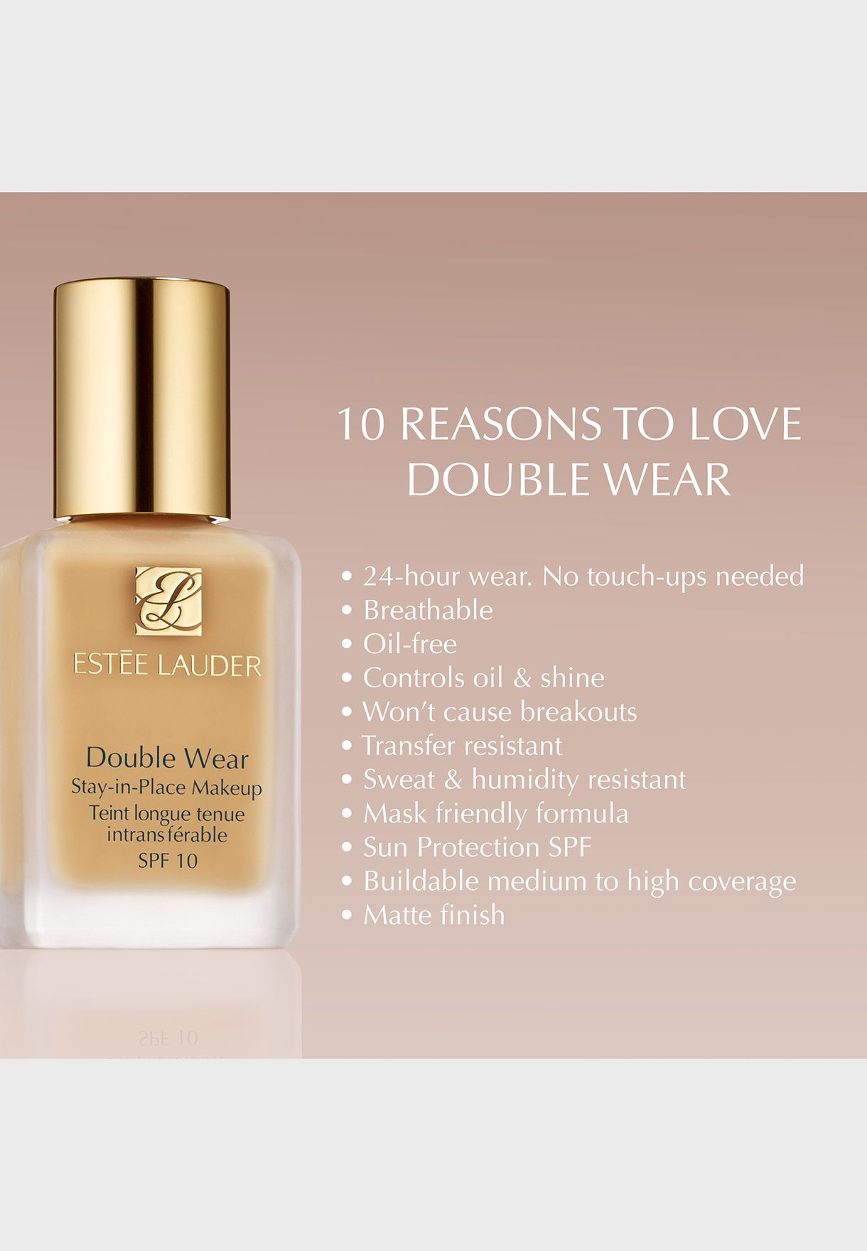 Double Wear Stay In Place Foundation-Cool Vanilla