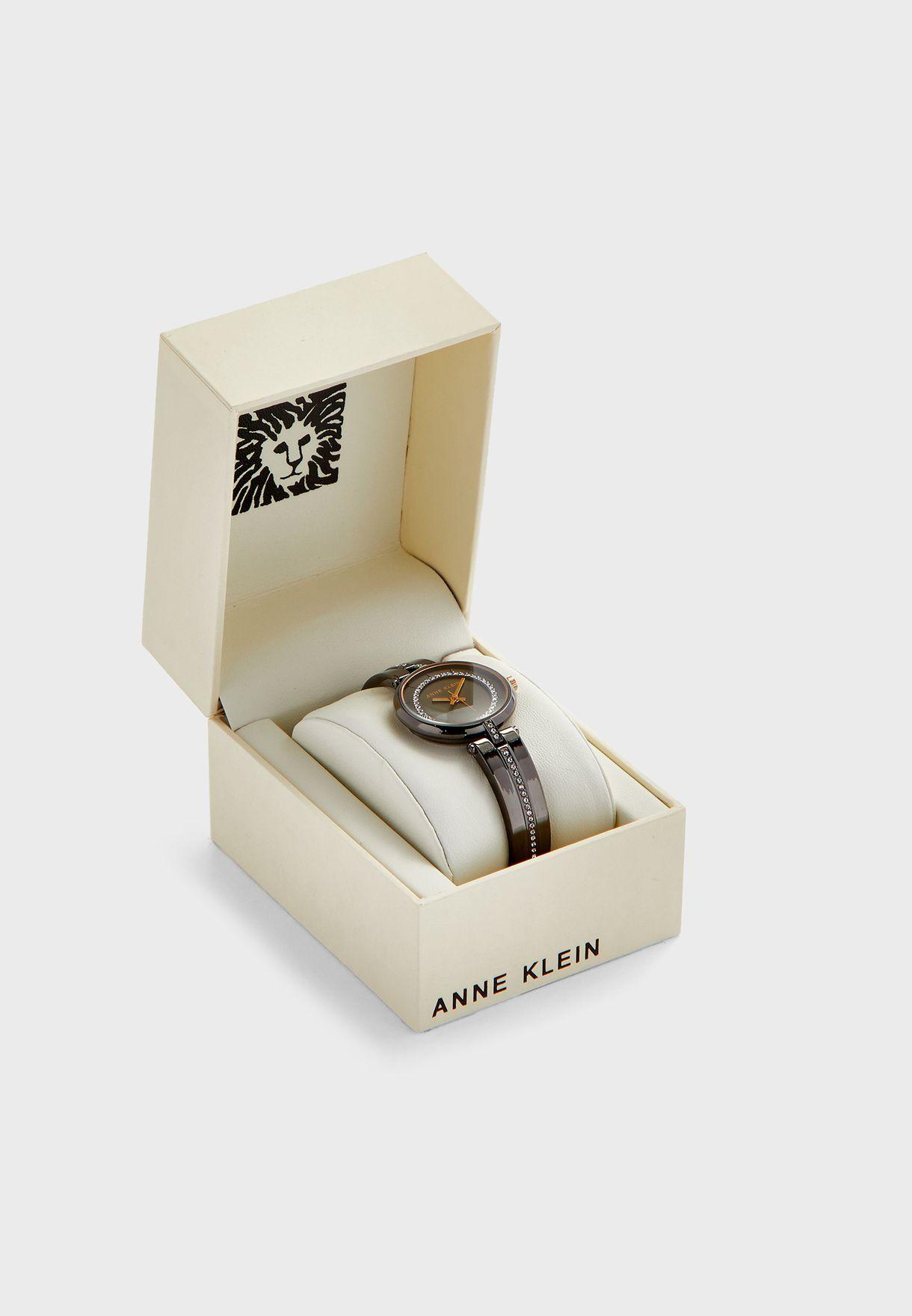 ساعة انالوج مزينة بكريستالات سواروفسكي AK3249GYRT