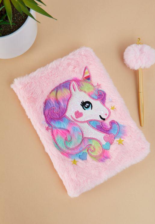 A5 Unicorn Fur Notebook