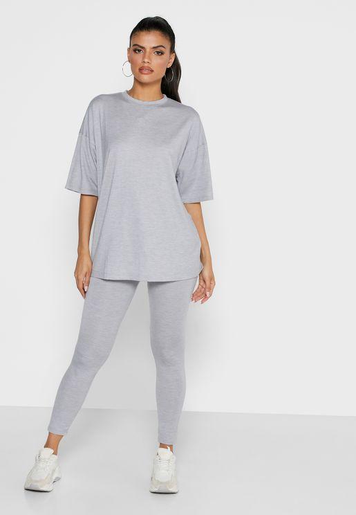 Oversized T-Shirt & Leggings Set Co Ord