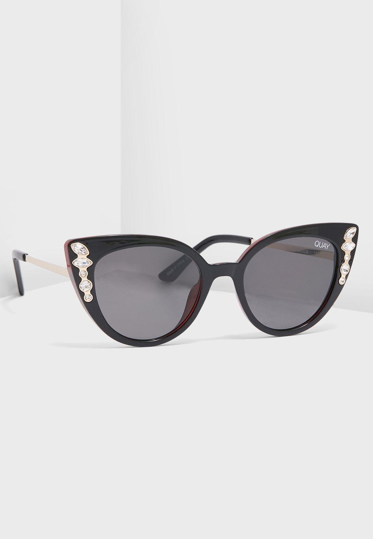 6375336f1918 Shop Quay Australia black Audacious Sunglasses QW-000536-BLK/SMK for ...