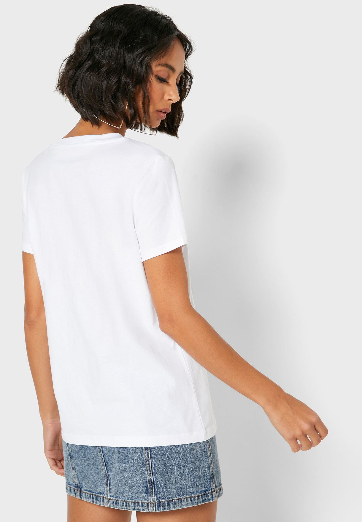 Organic Cotton Round Neck Logo T-Shirt