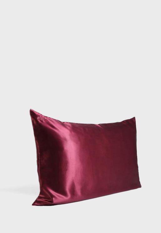 Queen Size Silk Pillow Case - Plum