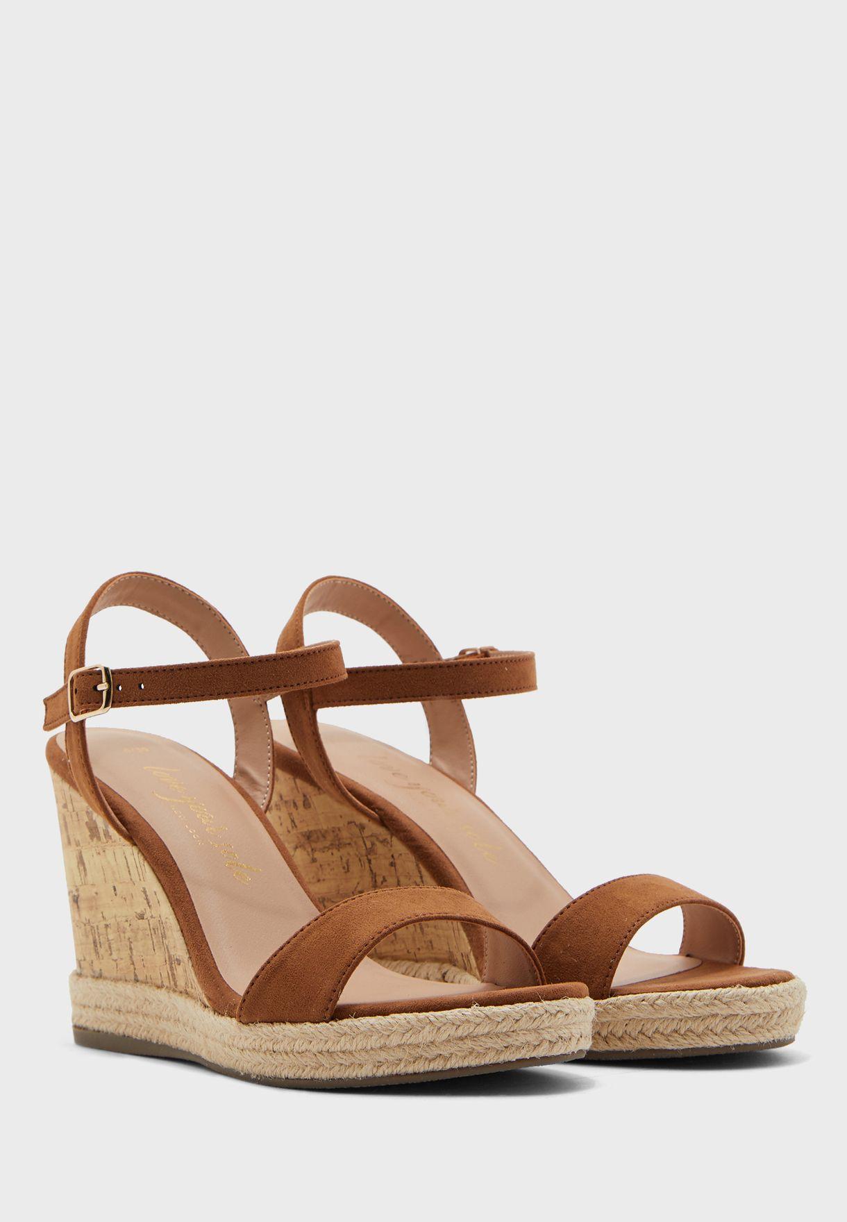 Perth Ankle Strap Wedge Sandal