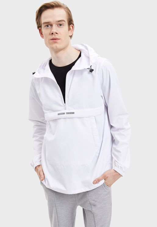 Half Zip Windbreaker Jacket