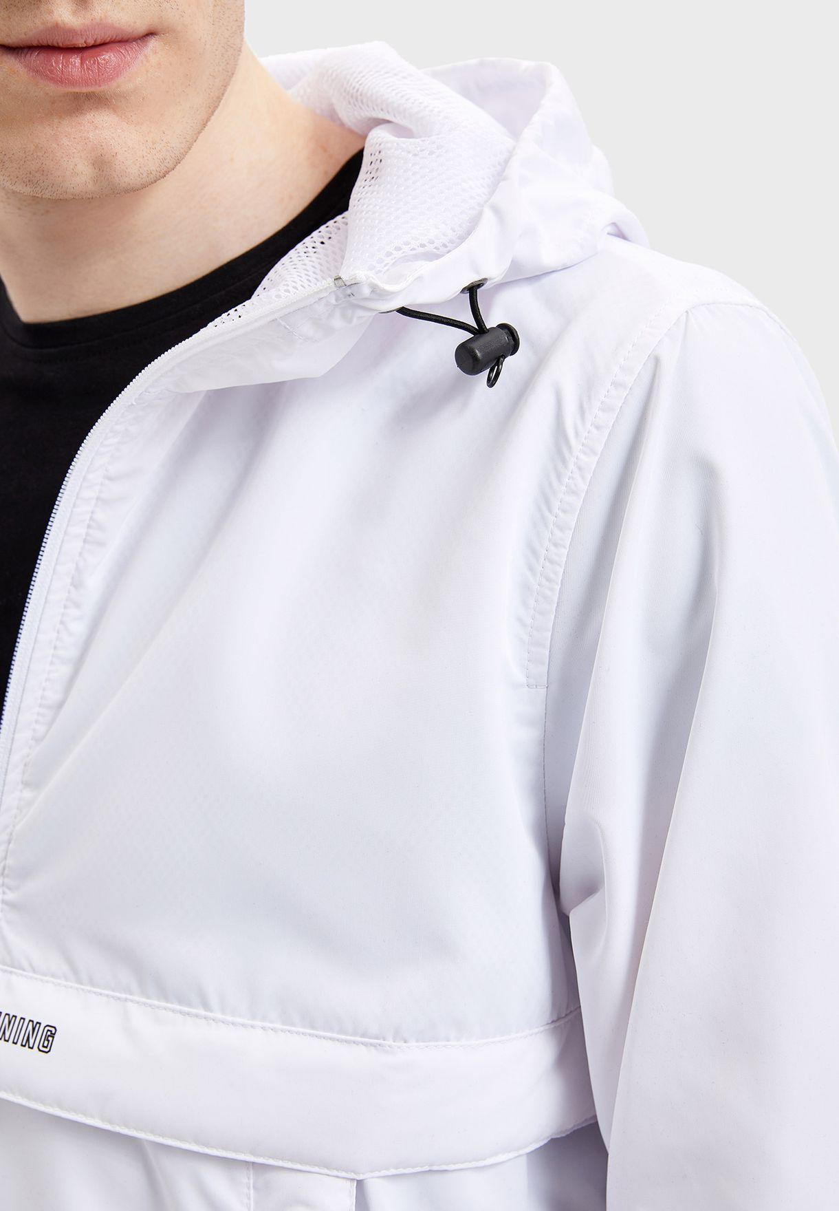 Half Zip Windbreaker Jacket