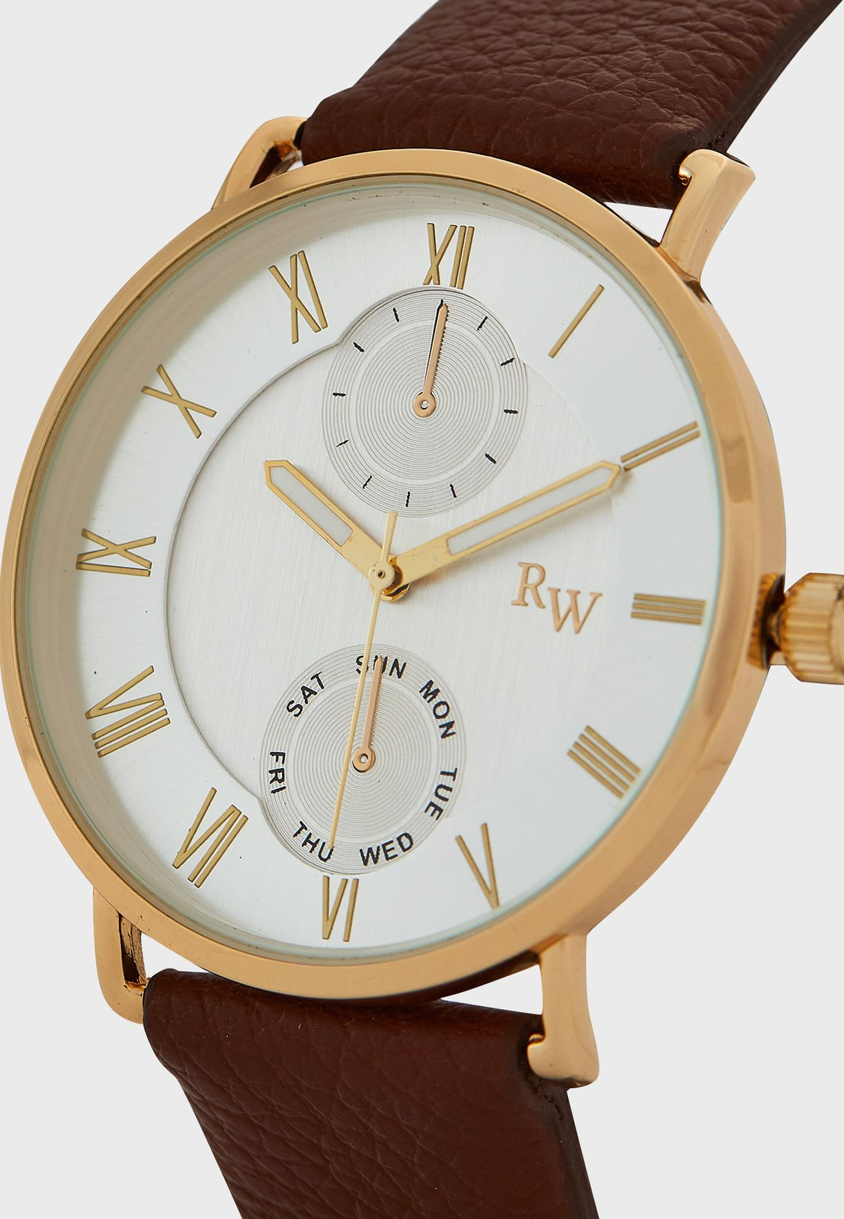 Curved Shoulder Analogue Dress Watch