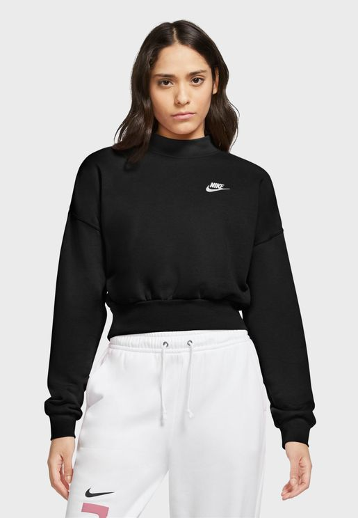 NSW Essential Fleece Mock Neck Sweatshirt