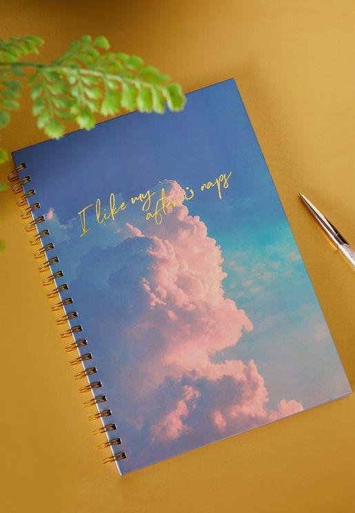 دفتر ملاحظات A4 بطباعة كتابة