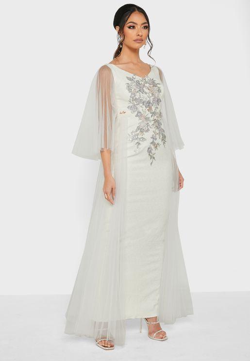 Yolk Embroidered Dress