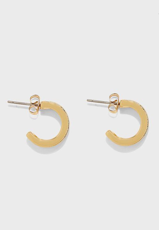 Row Hoop Earrings