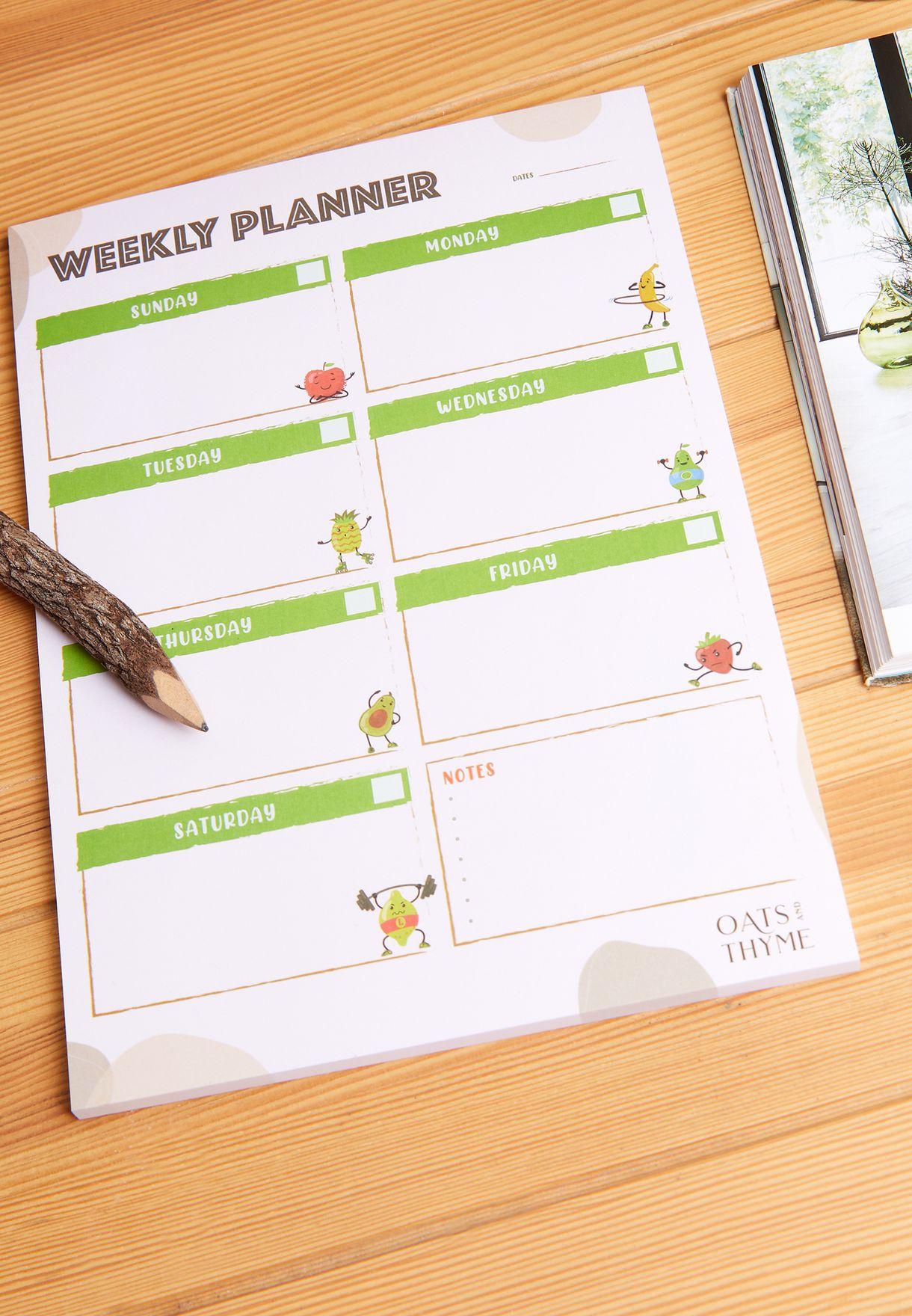 دفتر تخطيط اسبوعي باللغة الانجليزية A4