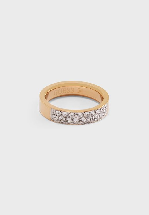 Rows Front Pave Ring