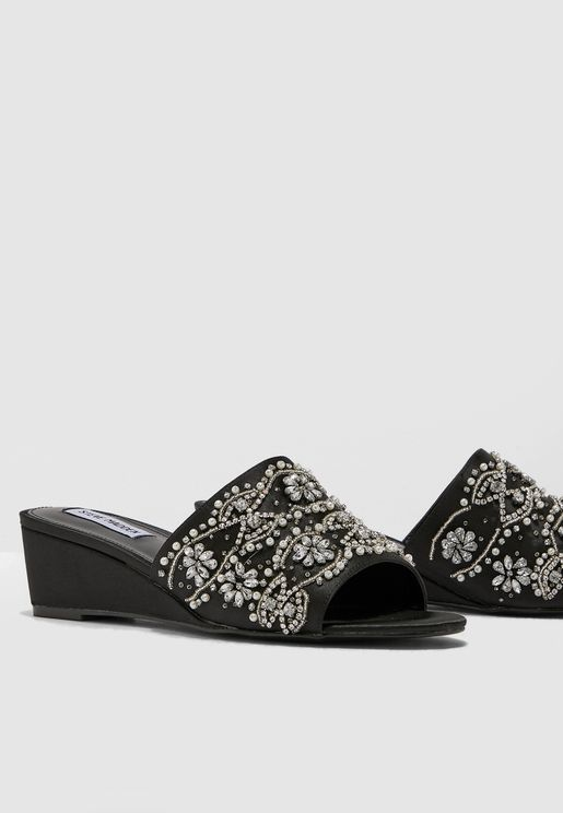 Lilly Wedge Sandal - Black