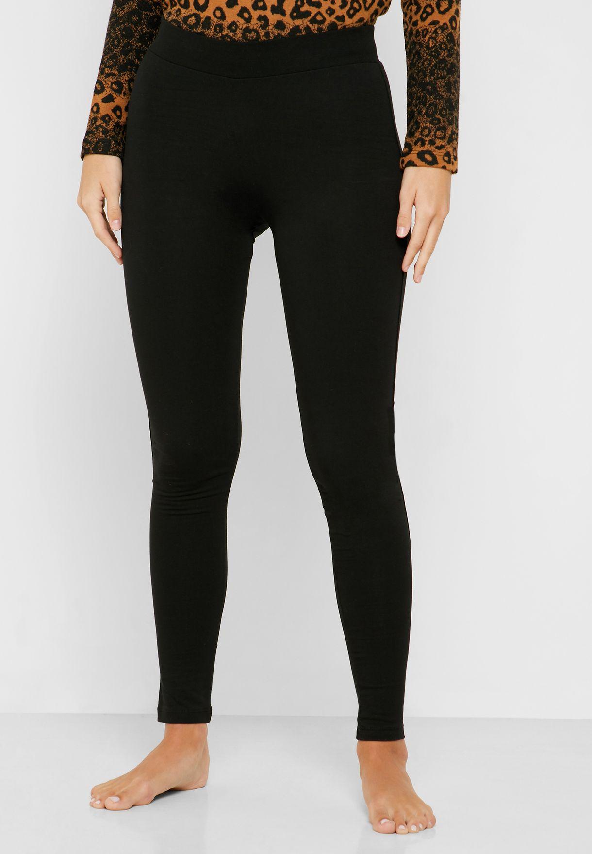 Animal Print Side Slit T-Shirt & Leggings Set